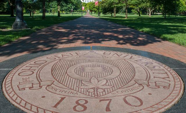 Presidential seal on The Oval