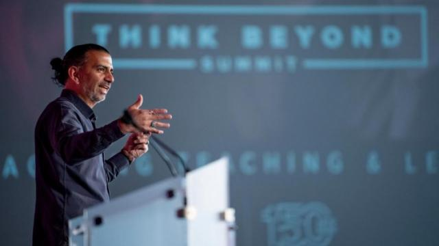Photot of Jamie Casap, Google's chief education evangelist, at Think Beyond.